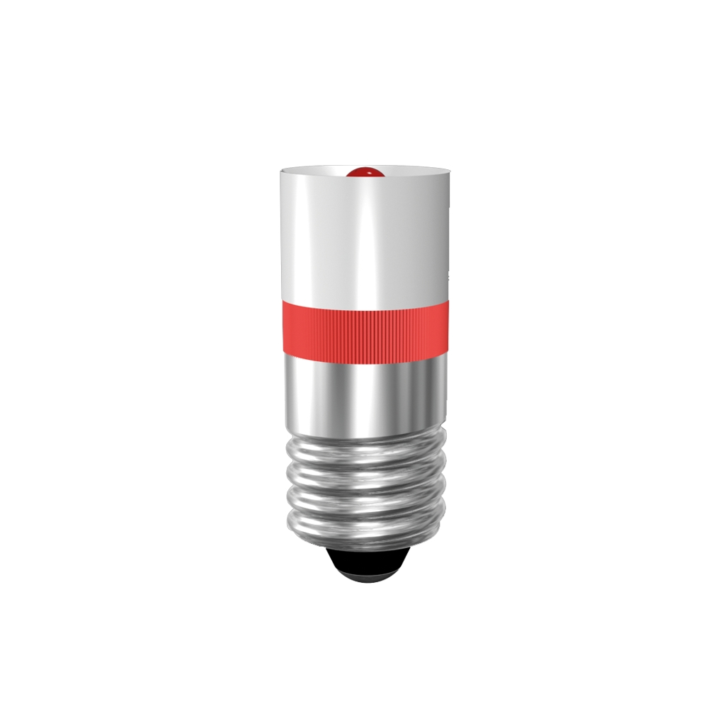 Single-LED Ø10 mm Sockel E10
