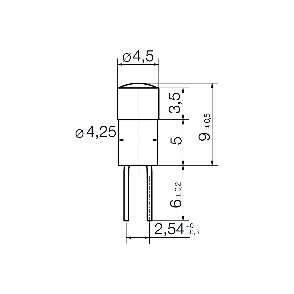 Multi-Look® LED-Lampe Bi-Pin 4,2 - plan