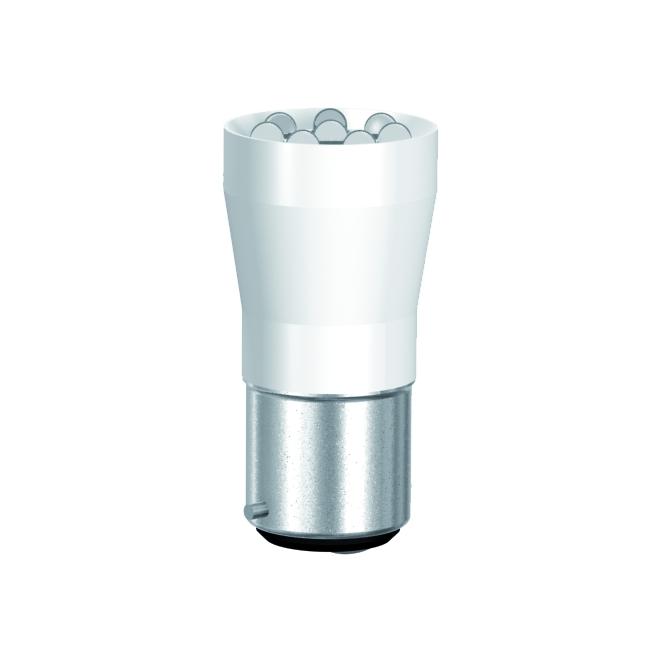 Cluster-Lampe mit 8 LEDs Sockel Ba22d