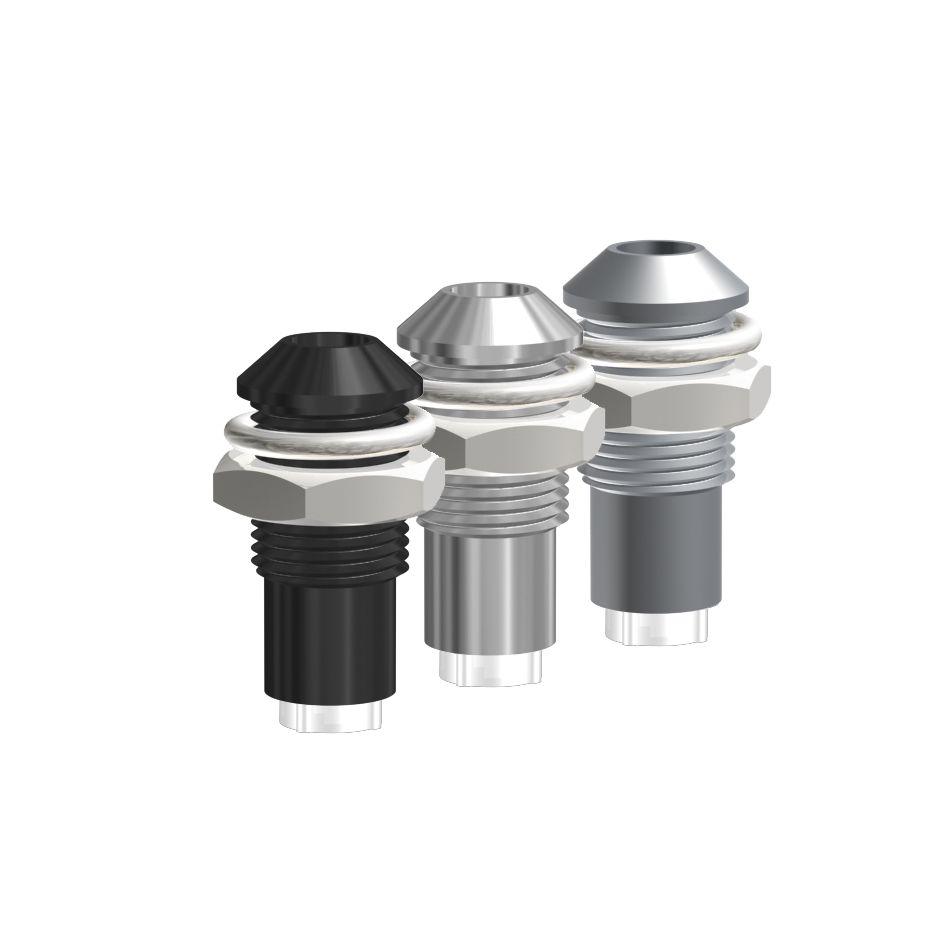 Leergehäuse für Ø3mm LEDs Außenreflektor