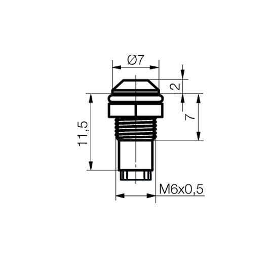LED-Fassung für Ø3mm LEDs Außenreflektor - plan