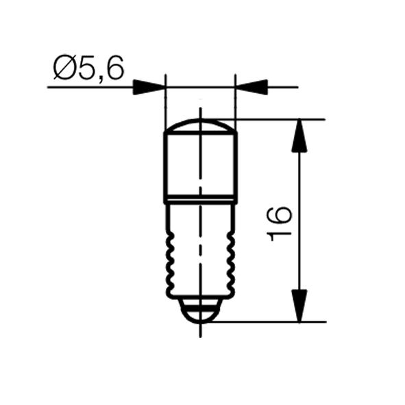 Multi-Look® LED Lampe Sockel E5,5 - plan