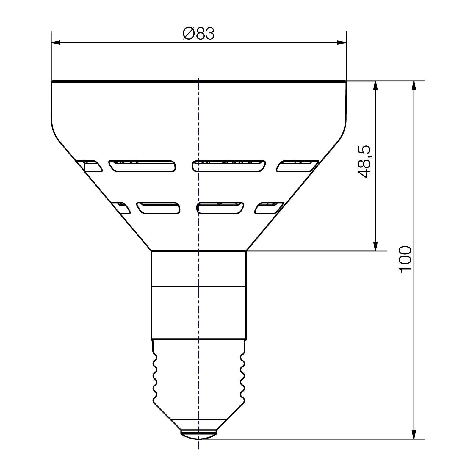 LED-Lampe Sockel E27 - plan