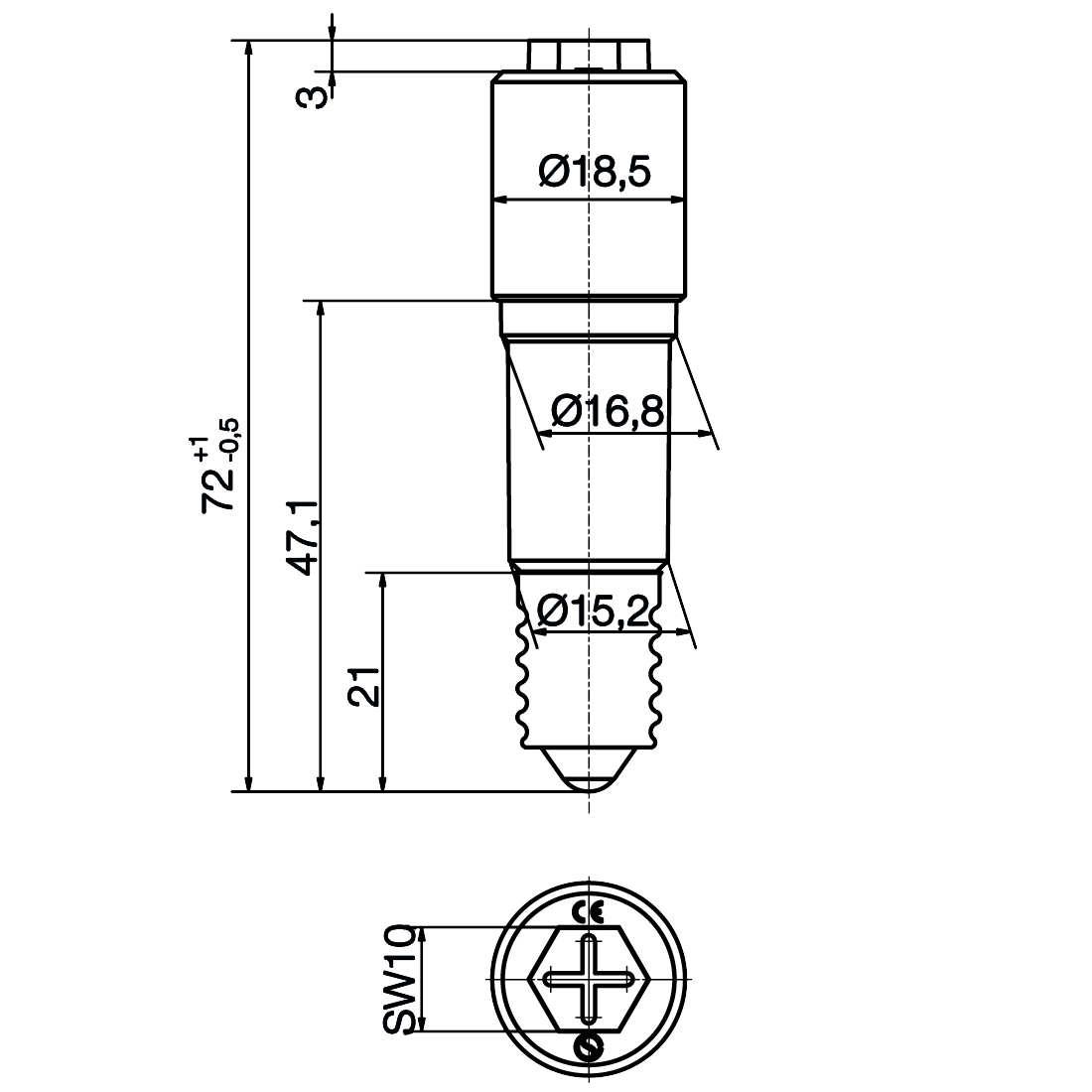 Notlicht LED-Lampe Sistar® II Sockel E14 - plan