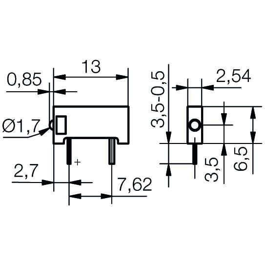 LED-Baustein mit Mini-LED - plan