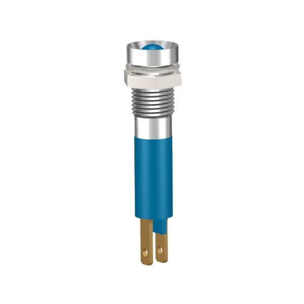 LED-Signalleuchte Ø8mm Innenreflektor Kopf zylindrisch