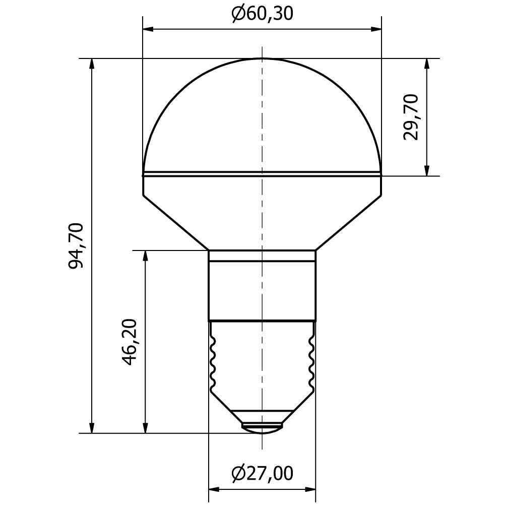 LED Deco-Lampe IP65 - plan