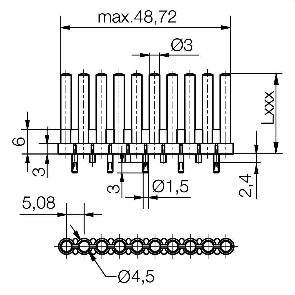Lichtleiter Ø 3 mm - plan