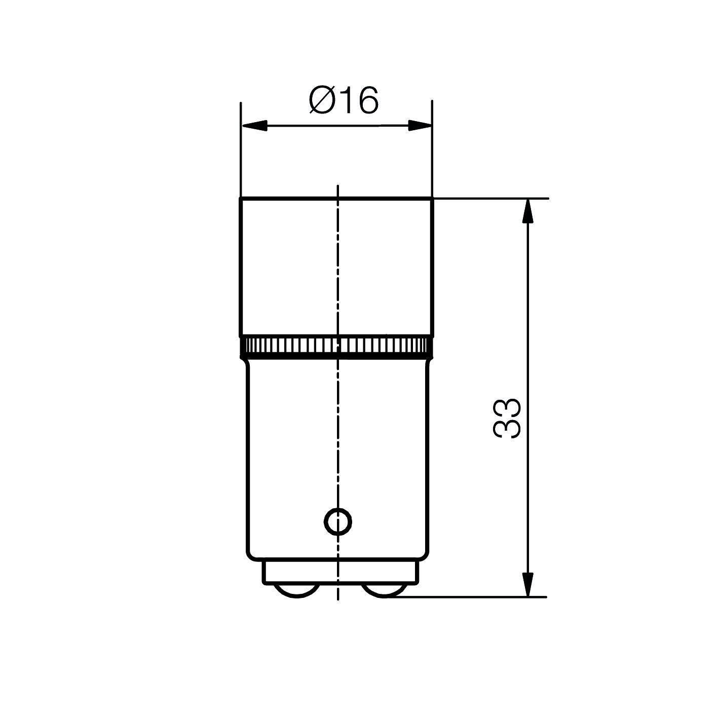 Cluster-Lampe mit 8 LEDs Sockel BA15d - plan