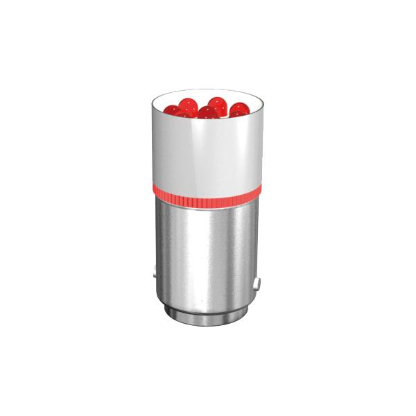 Cluster-Lampe mit 8 LEDs Sockel BA15d