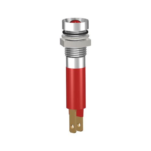 LED-Signalleuchte Ø8mm IP67 Innenreflektor Kopf zylindrisch