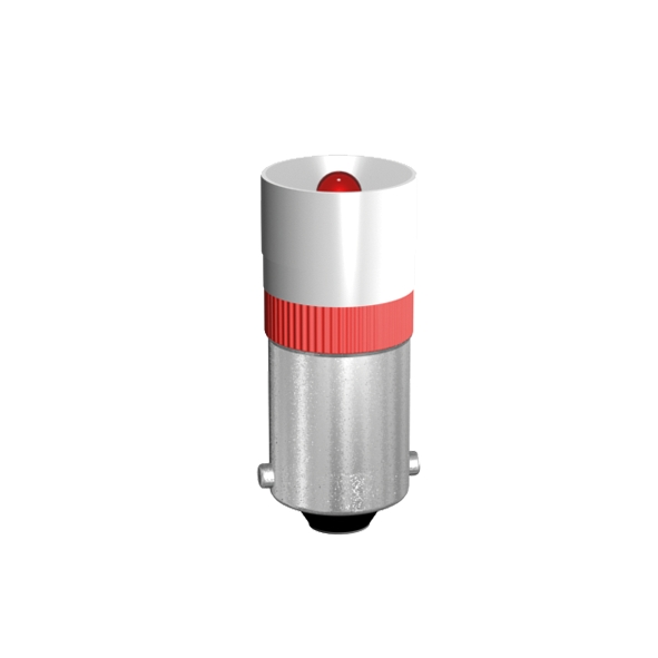 Single LED Lamp Ø10mm socket BA9s half-wave rectification