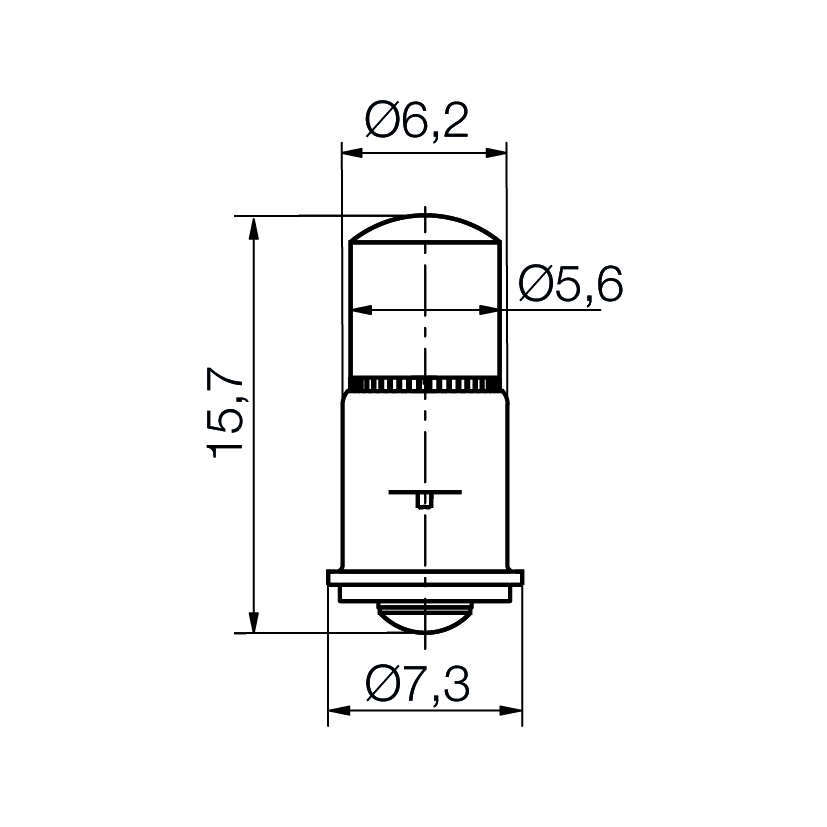 Multi-Look® LED Lampe Sockel MF6s/8 - plan