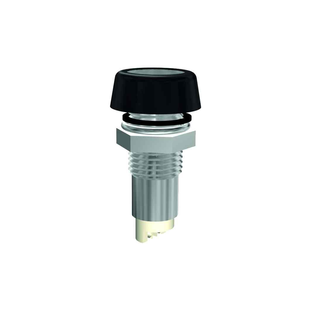 LED-Fassung für Ø5mm LEDs  IP67 mit Glasplatte