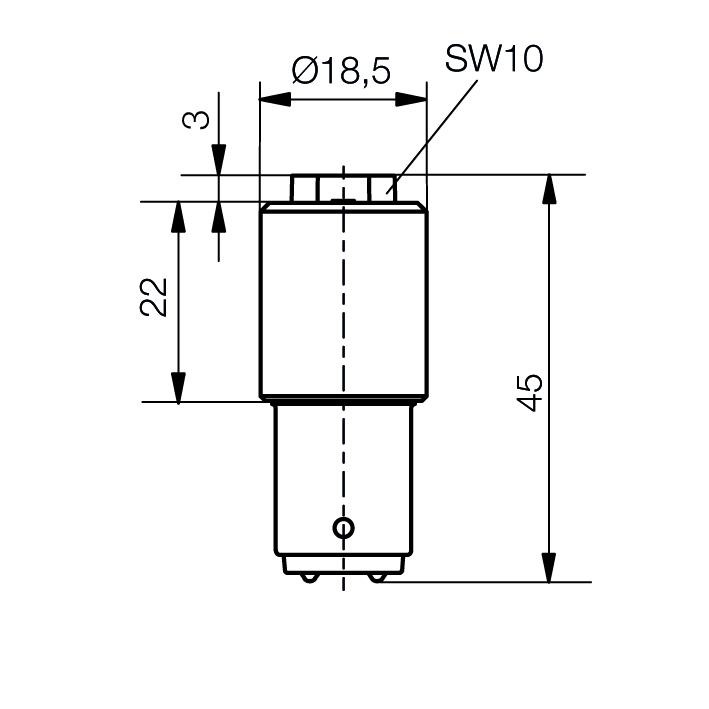 LED-Lampe Sistar® II Sockel BA15d - plan