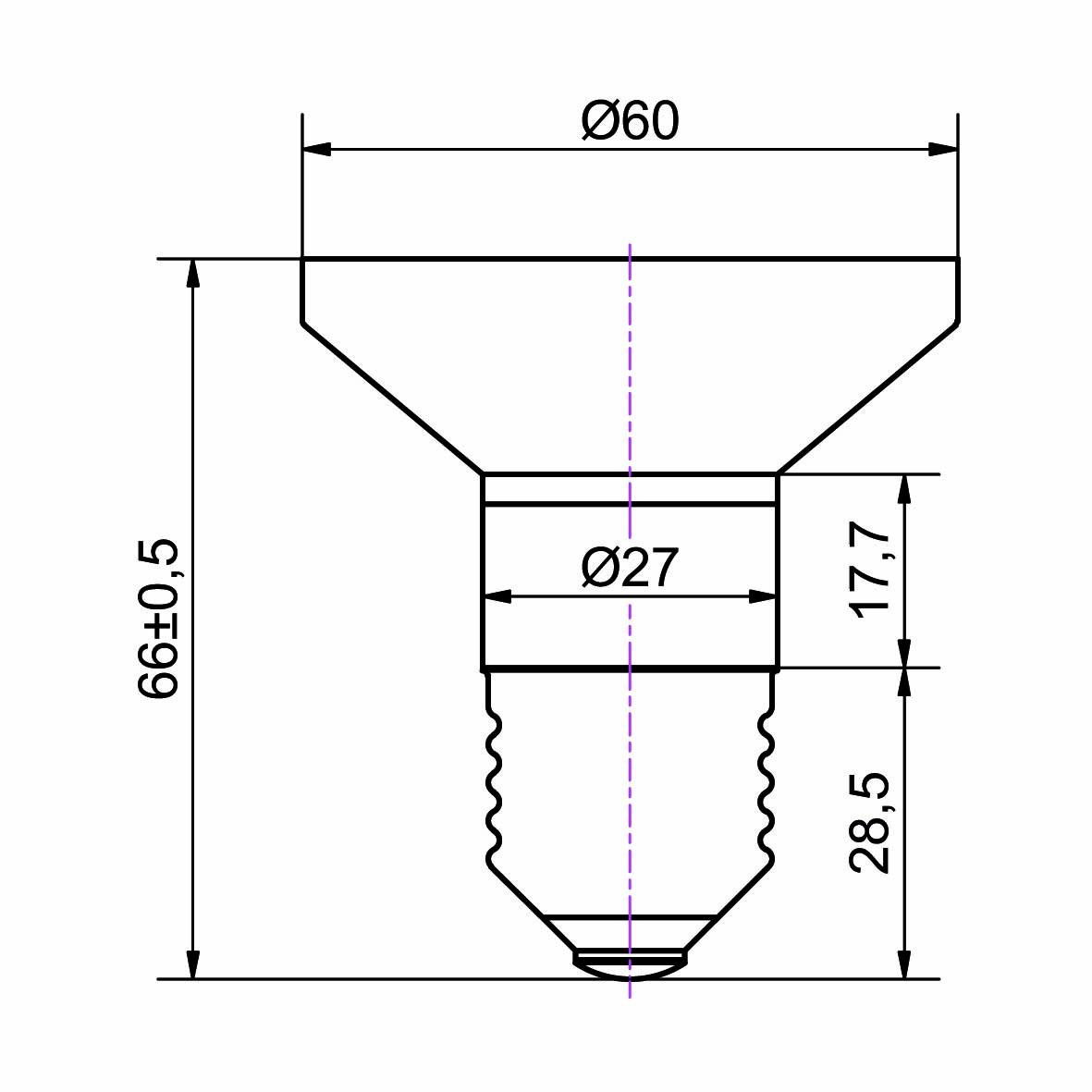 LED Lampe Sockel E27 - plan
