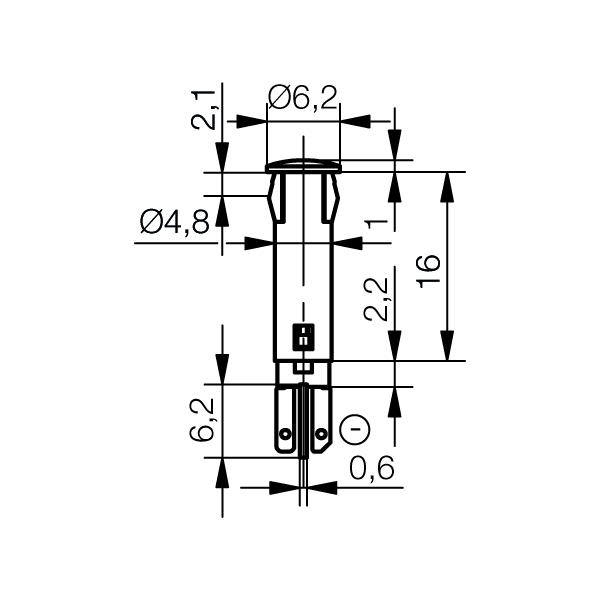 LED-Symbol-Leuchte Ø5mm Blendenkopf rund - plan