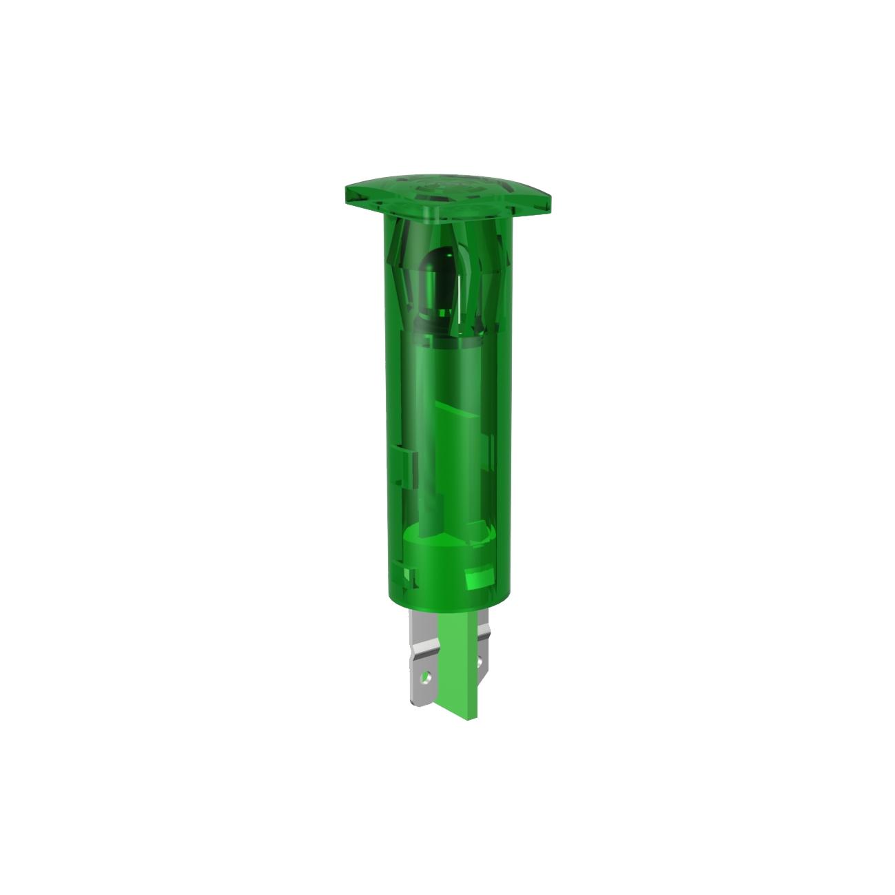 LED-Symbol-Leuchte Ø 6mm Blendenkopf quadratisch