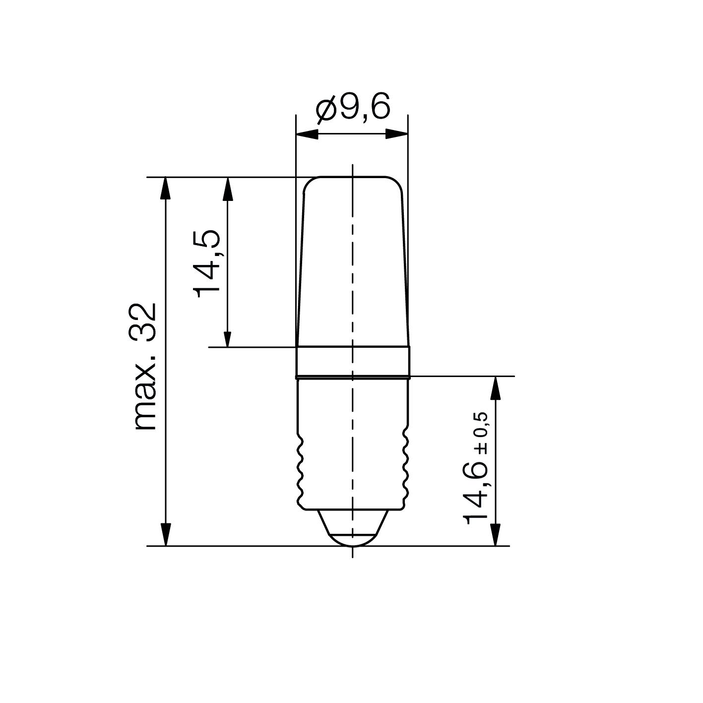 LED-Lampe Mini Sistar® Sockel E10 - plan