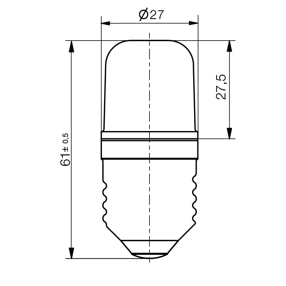 Notlicht LED-Lampe Sistar® 3L Sockel E27 - plan