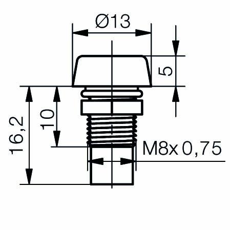 LED-Gehäuse für 5mm LEDs IP67 - plan