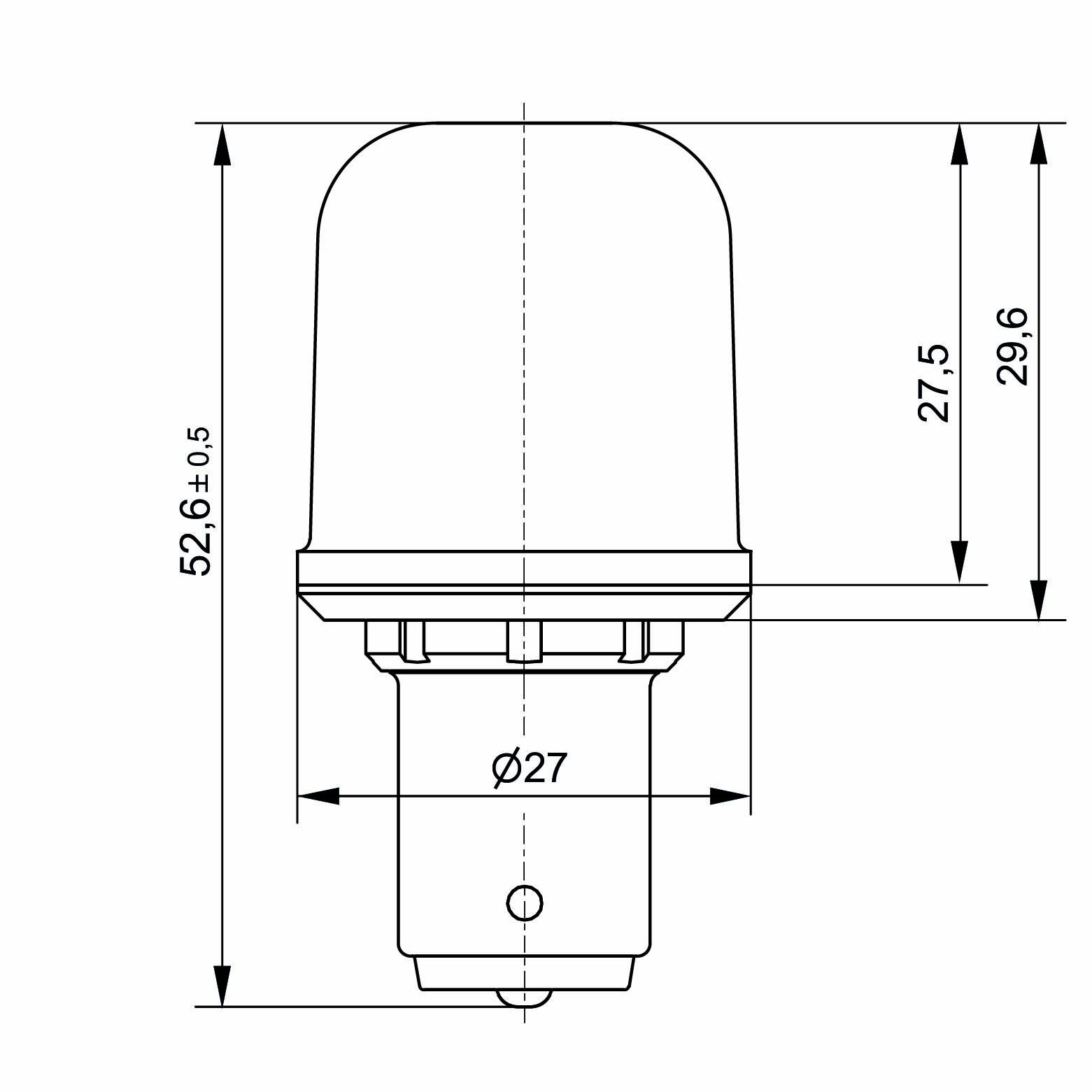 Notlicht LED-Lampe Sistar® 3L Sockel BA15s - plan