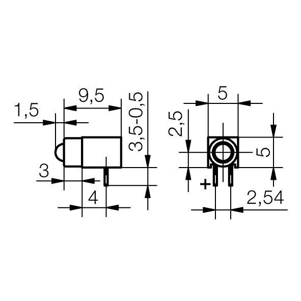 LED-Baustein 1-fach - Basis-Line - plan