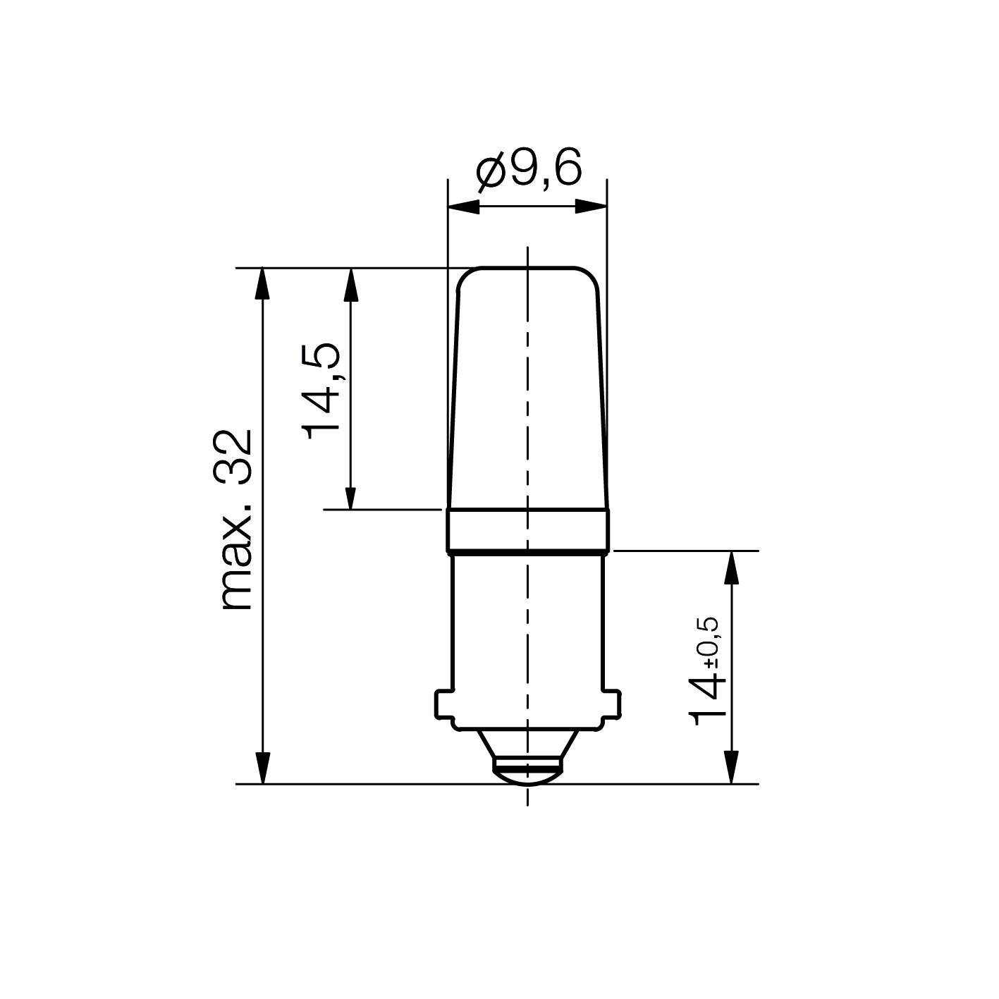 LED-Lampe Mini Sistar® Sockel BA9s - plan