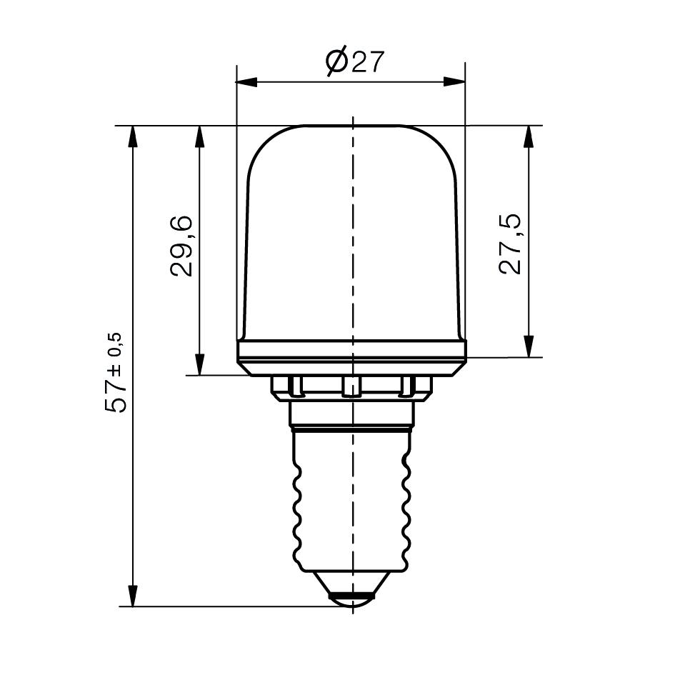 Notlicht LED-Lampe Sistar® 3L Sockel E14 - plan