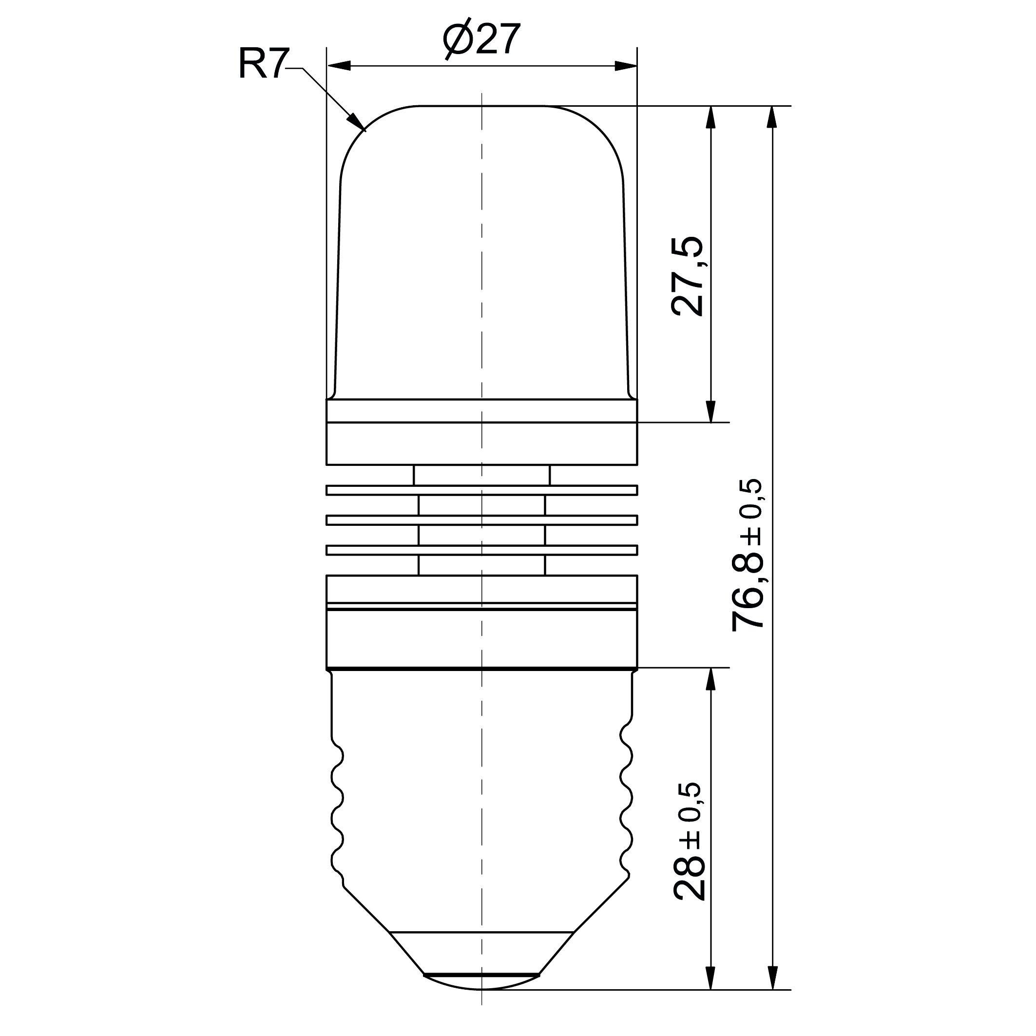Notlicht LED-Lampe Sistar® 3P Sockel E27 - plan