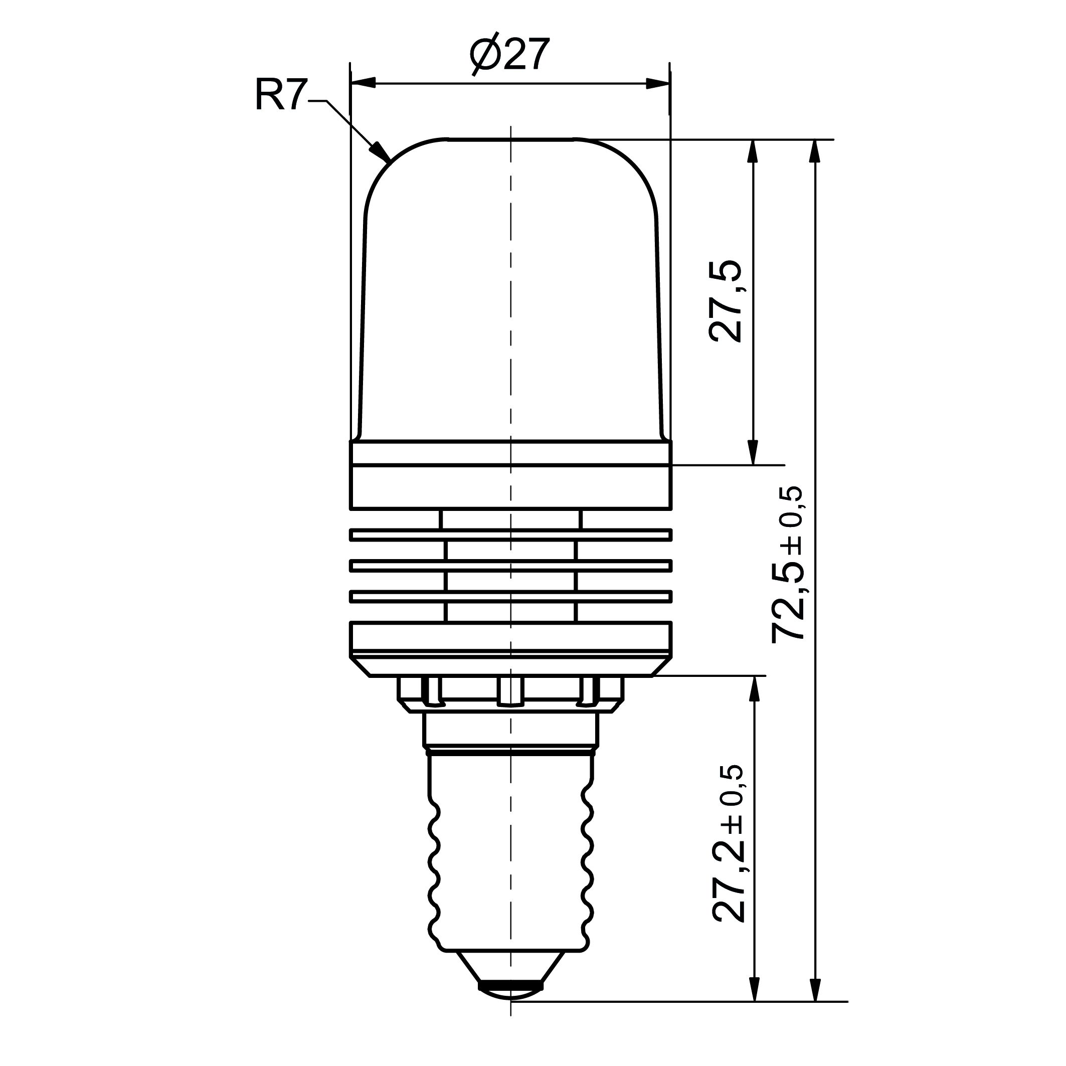 Notlicht LED-Lampe Sistar® 3P Sockel E14 - plan