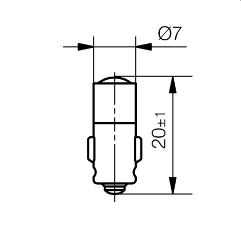 Multi-Look® LED Lampe Sockel BA7s Einchip, Einweggleichrichter - plan