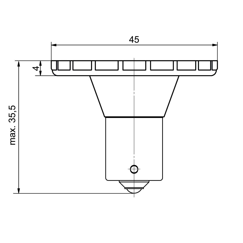 LED-Signallampe Sockel BA15s - plan