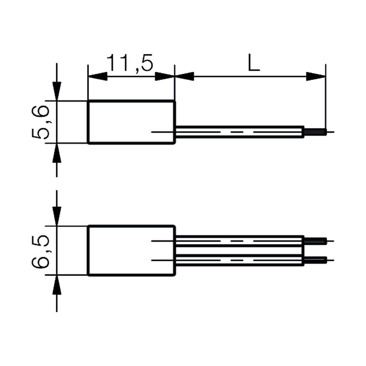 Anschlussleitung für Löt/Steckfahne - plan
