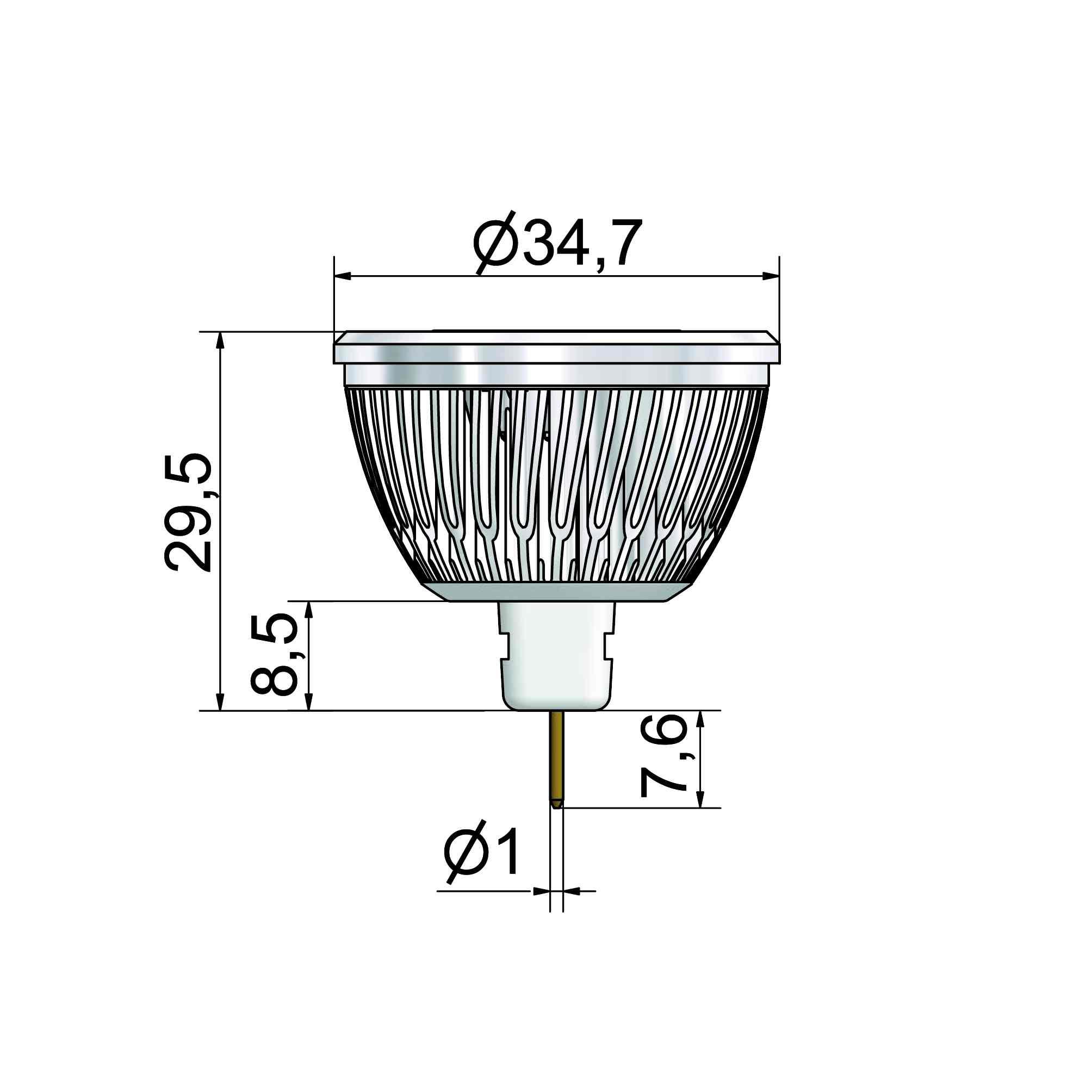 LED-Spot MR11 mit Sockel GU4 - plan