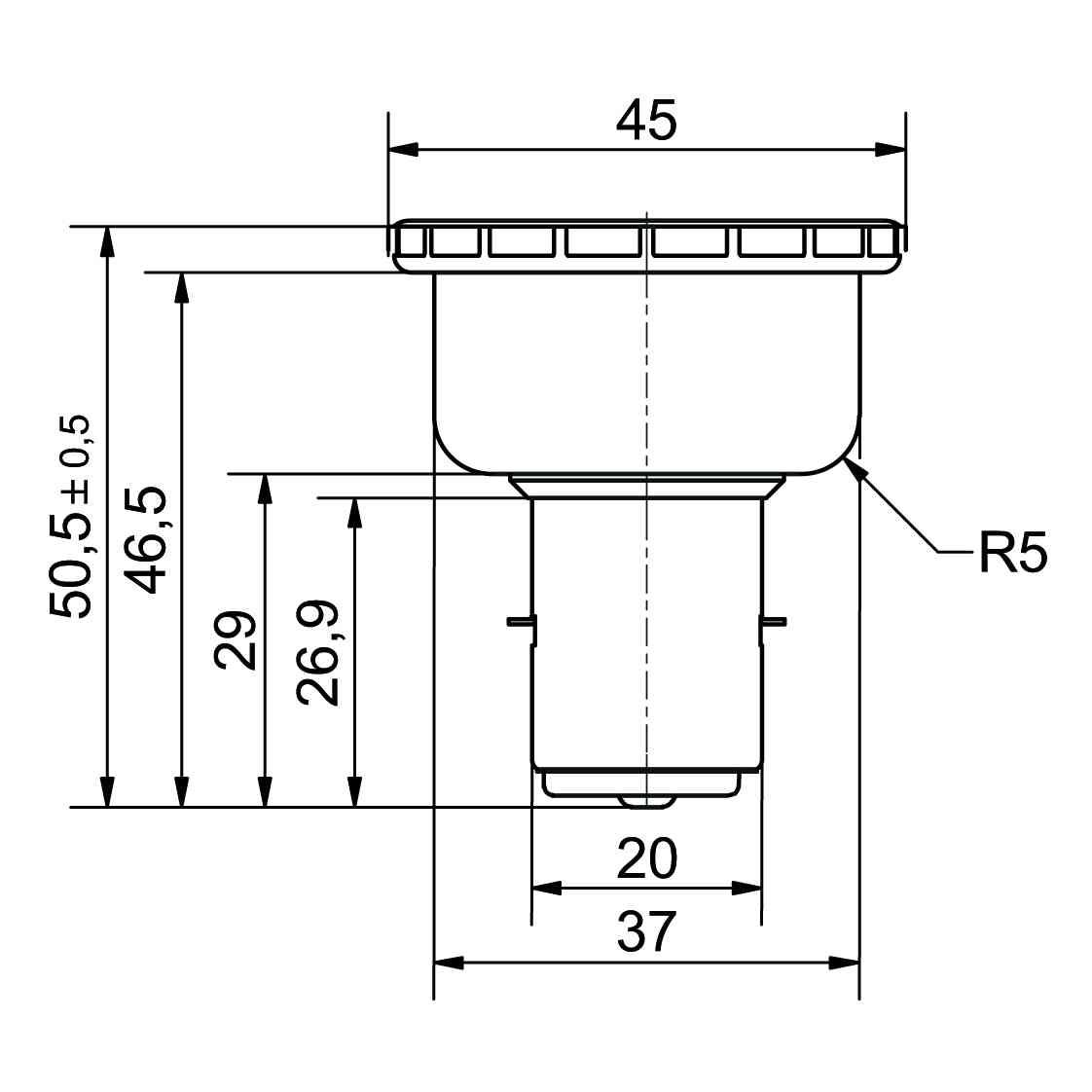 LED-Signallampe Sockel BA20d - plan