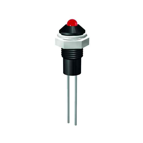 LED Indicator Ø6mm outside reflector