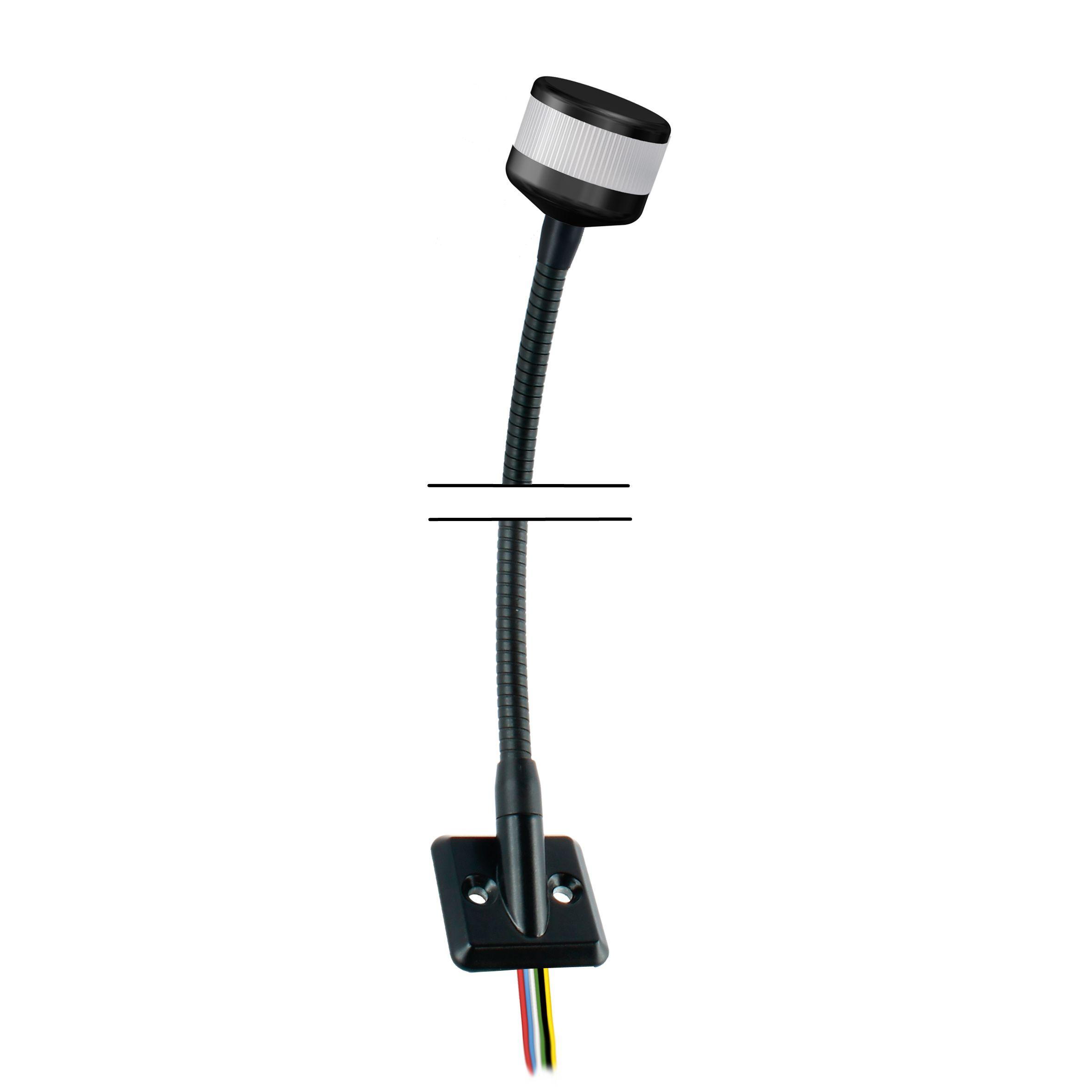 LED-Kompakt-Towerlampe mit Schwanenhals.