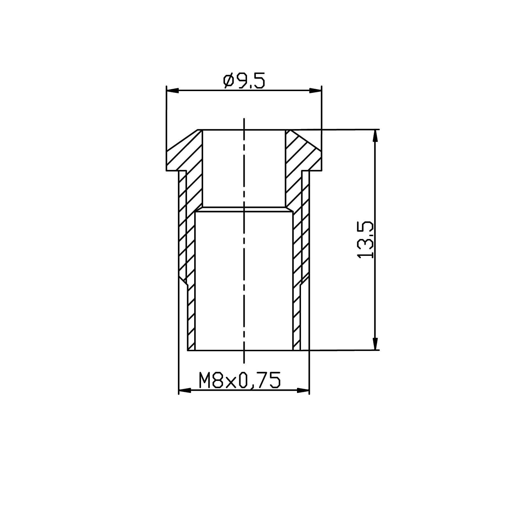 LED-Gehäuse für 5mm LEDs Außenreflektor, Kurzversion - plan