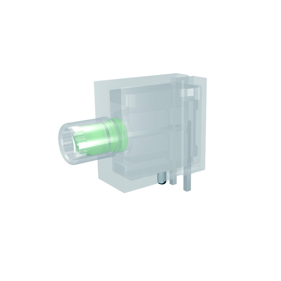 ESD Line-LED-Baustein mit 3mm LED 1-fach