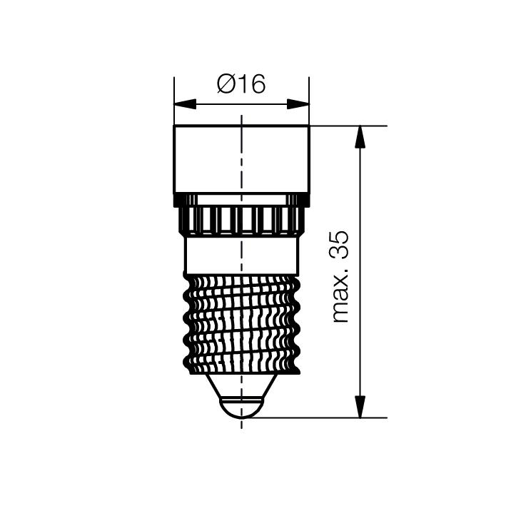 Cluster-Lampe Sockel E14 5 x 3mm-LED - plan