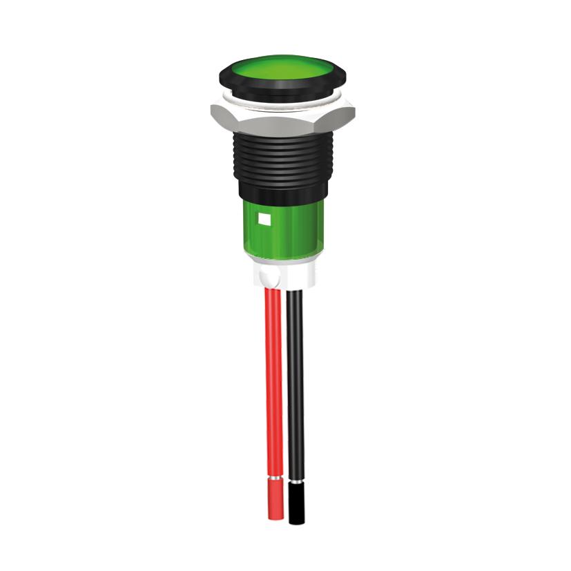 LED-Statusanzeige Ø12mm mit Blende 130V, 230V