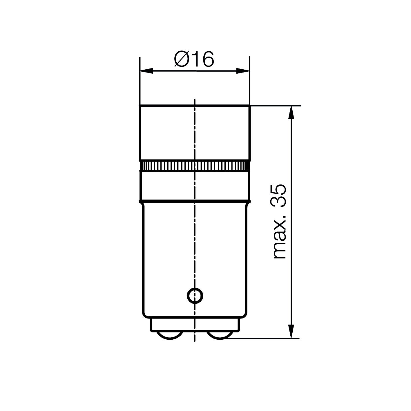 Cluster-Lampe Sockel BA15d 5 x 3mm-LED - plan