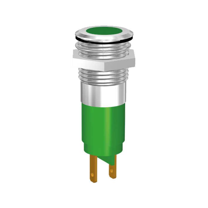 LED-Statusanzeige Ø14mm IP67 superflach mit Blende