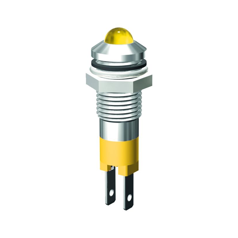LED-Signalleuchte Ø8mm IP67 Außenreflektor