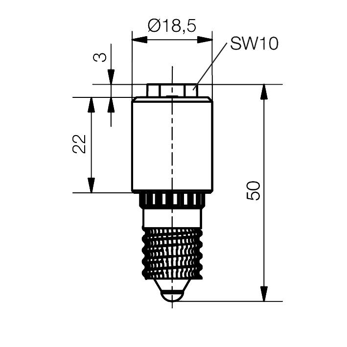 LED-Lampe Sistar® II Sockel E14 - plan
