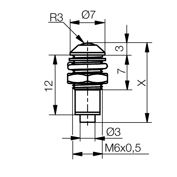 Light pipe module with outside reflector housing - plan