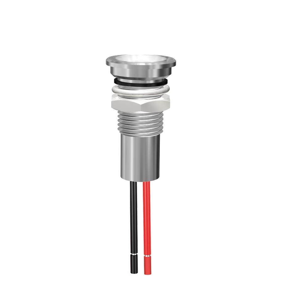 LED-Signalleuchte Ø8mm IP67 mit optischer Linse