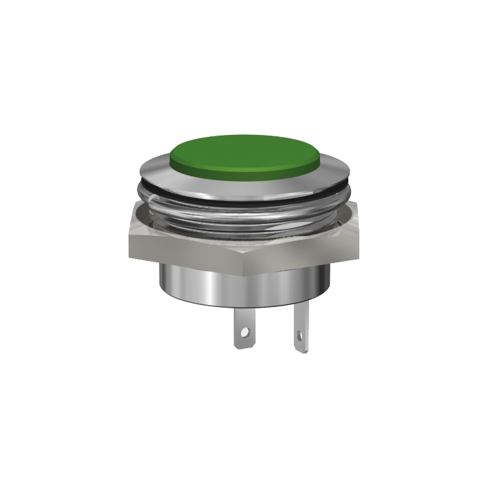 LED-Meldeleuchte Ø22mm IP67 superflach
