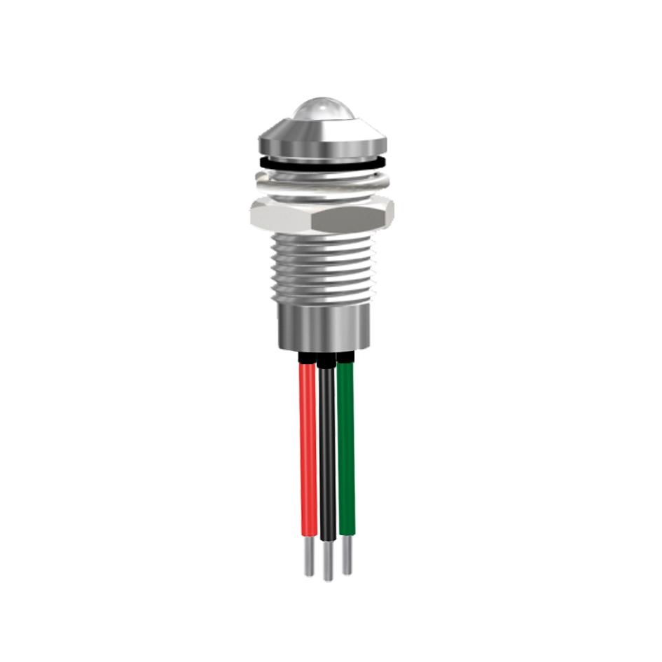 LED-Signalleuchte Ø8mm IP67 Außenreflektor zweifarbig